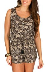 Combinaison-Short tendance avec smocks à la taille Selena 292883