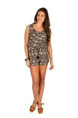Combinaison-Short tendance avec smocks à la taille Selena 292884