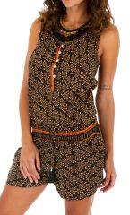 Combishort femme combinaison élégante à larges bretelles Nya 305791