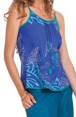 Débardeur Femme Bleu à fines bretelles Ethnique et Coloré Arnold 281775