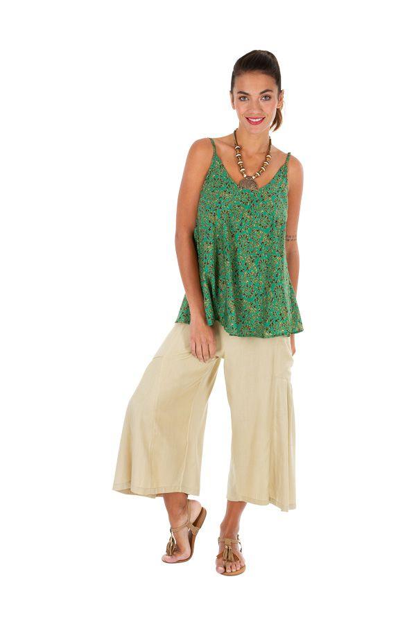 Débardeur fluide vert pour femme le top parfait pour l'été chloelia 306497