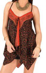 Débardeur pour Femme à fines bretelles Orange Original et Imprimé Emina 285805