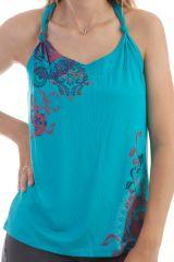 Débardeur Turquoise original à bretelles nouées Lagune 298147