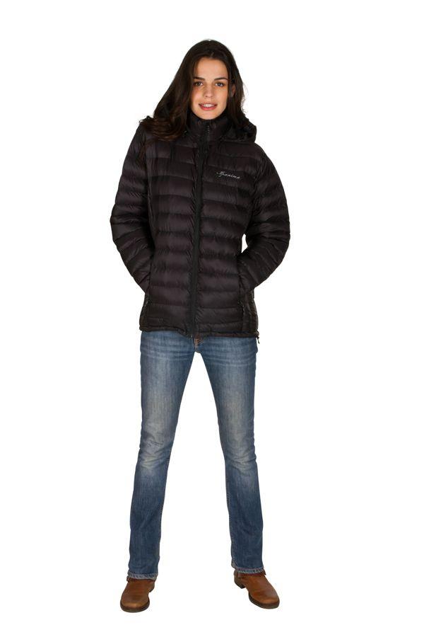 Doudoune femme Noire tendance et originale avec capuche Maite 301646