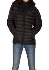 Doudoune femme Noire tendance et originale avec capuche Maite 301647