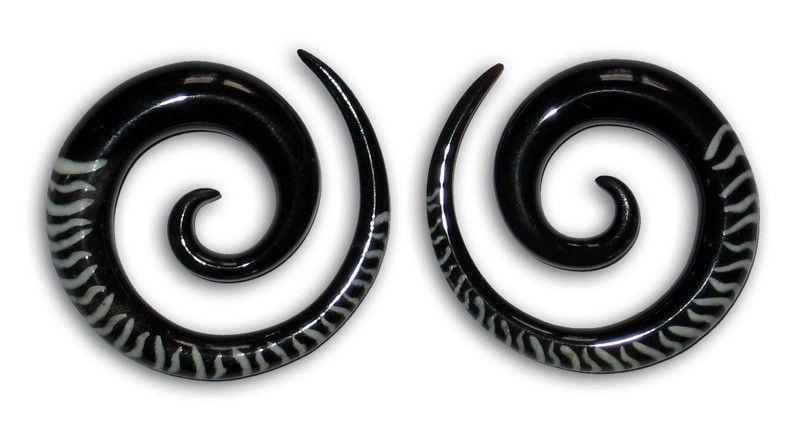 Ecarteur corne spirale zébré blanche 241136