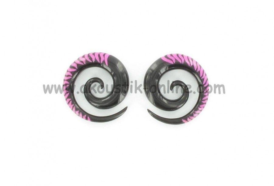 Ecarteur corne spirale zebré rose 237698