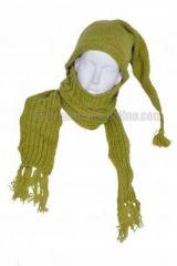 Echarpe à capuche lutin avec col en laine doublé polaire n°28 240902