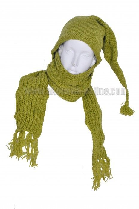 Echarpe à capuche lutin avec col en laine doublé polaire n°28 254005