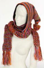 Echarpe à capuche lutin avec col en laine doublé polaire n°29 249296