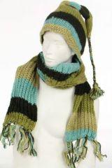 Echarpe à capuche lutin avec col en laine doublé polaire n°30 249608