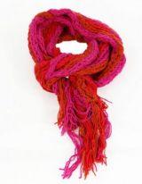 Echarpe en laine du Népal cokka fushia 247810