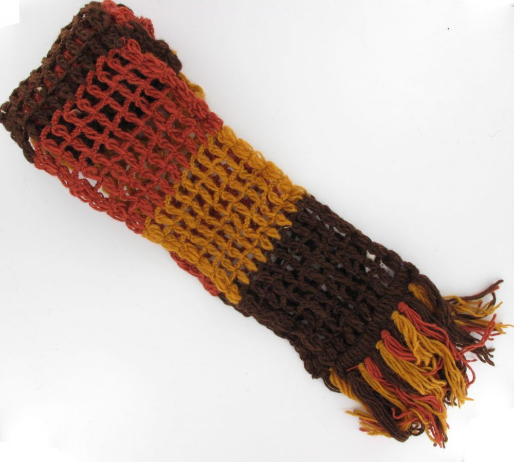 Echarpe laine retro marron 243706