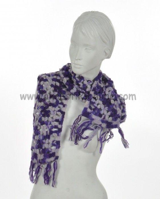 Echarpe laine retro violette 238031