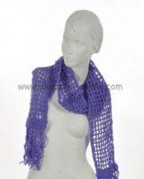 Echarpe laine retro violette 238039