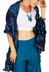 Foulard femme imprimée couleur bleu marine Joel 309395