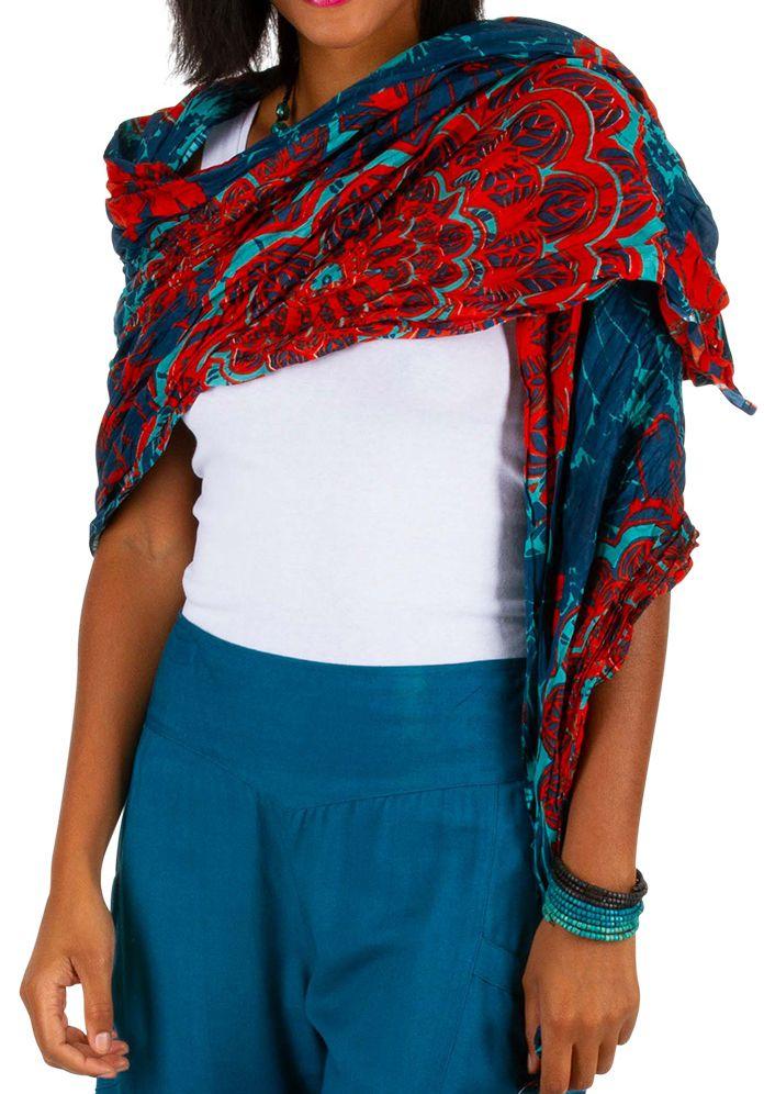 Foulard imprimé coloré en coton pour femme Marc 309428