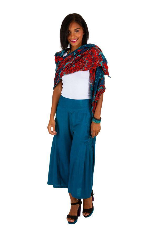 Foulard imprimé coloré en coton pour femme Marc 309429