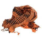 Foulard keffieh orange clair et noir 246177