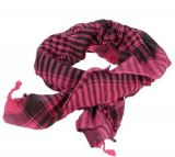 Foulard keffieh rose et noir 246173