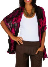 Foulard noir et rose imprimé tendance et moderne Bill