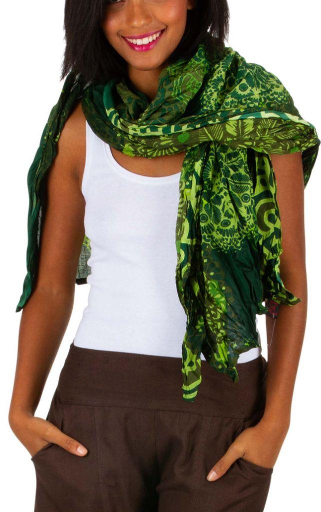 Foulard vert avec un imprimé style Africain Jordan