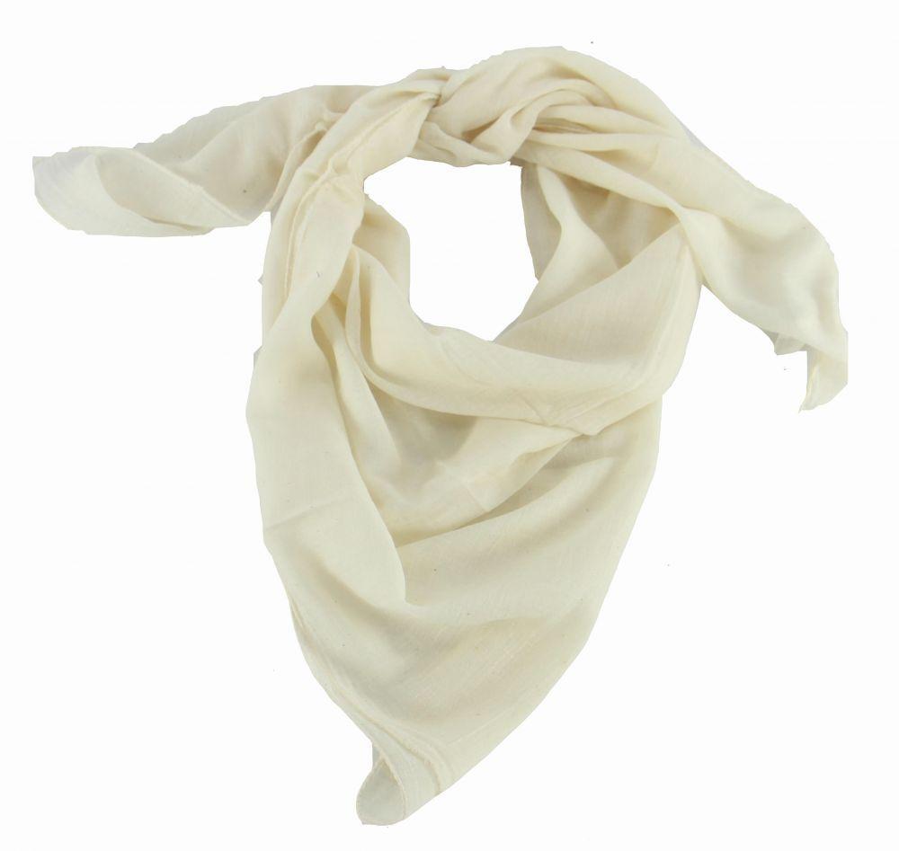 foulard winlow en coton blanc n°3 248505