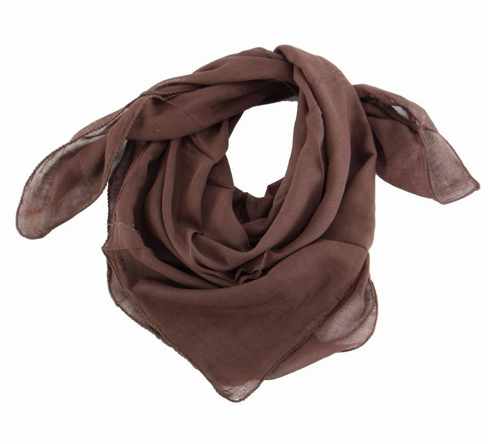 foulard winlow en coton marron n°2 248503