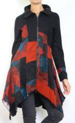 Gilet hiver femme zippé ethnique et original Lolah 302627