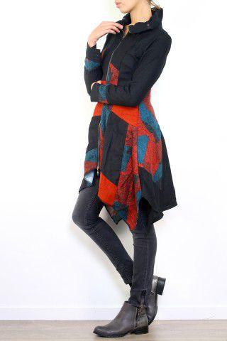 Gilet hiver femme zippé ethnique et original Lolah 302629