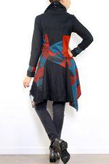 Gilet hiver femme zippé ethnique et original Lolah 302630