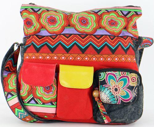 Grand sac Macha pas cher à bandoulière modèle Tiki 271537