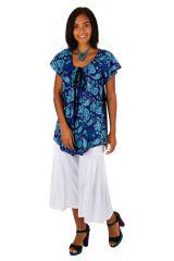 Haut ample original blouse à col rond pour femme Lallie