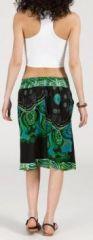 Jolie Jupe mi-longue ethnique et colorée - bleue -Maeva 271873