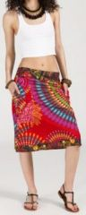 Jolie Jupe mi-longue ethnique et colorée - Lela 271868