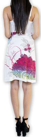 Jolie robe courte d'été tendance et colorée Blanche Carlla 273321