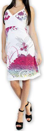Jolie robe courte d'été tendance et colorée Blanche Carlla 273322