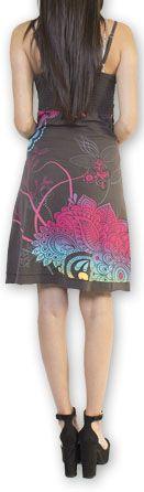 Jolie robe courte d'été tendance et colorée Gris Carlla 273305
