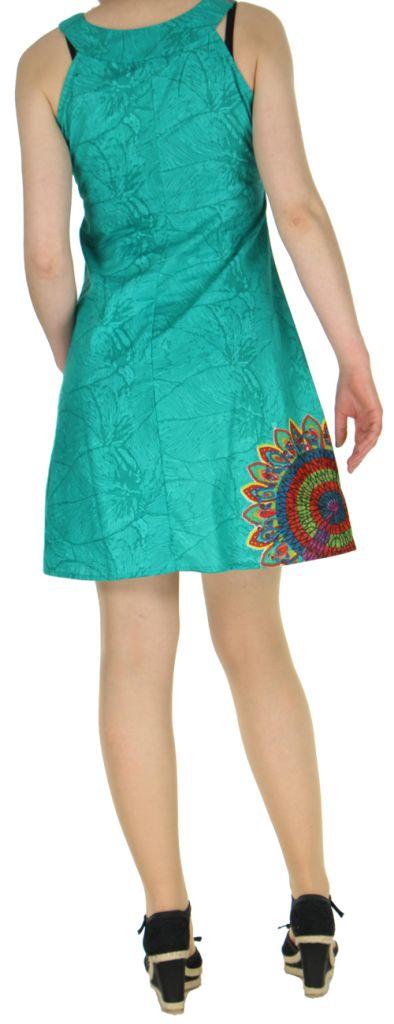 Jolie Robe d'été ethnique idéale cérémonie  Verte  Alisha 272579