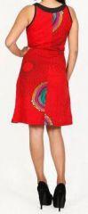 Jolie robe d'été sans manches ethnique et pas chère Rouge Ninfa 272188