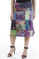 Jupe à la ceinture réglable patchwork et colorée Jessy 310656