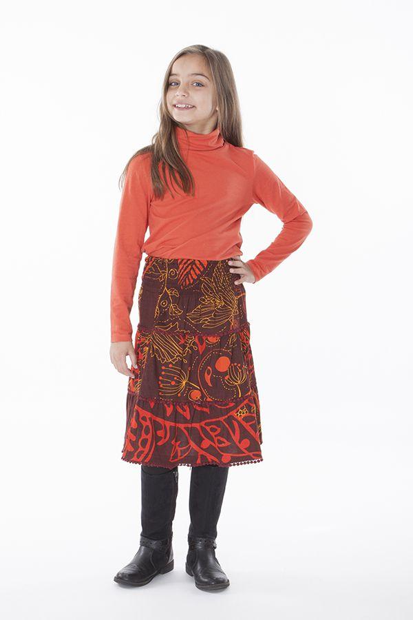 Jupe à pompons et imprimée pour enfant fille Youna 286134