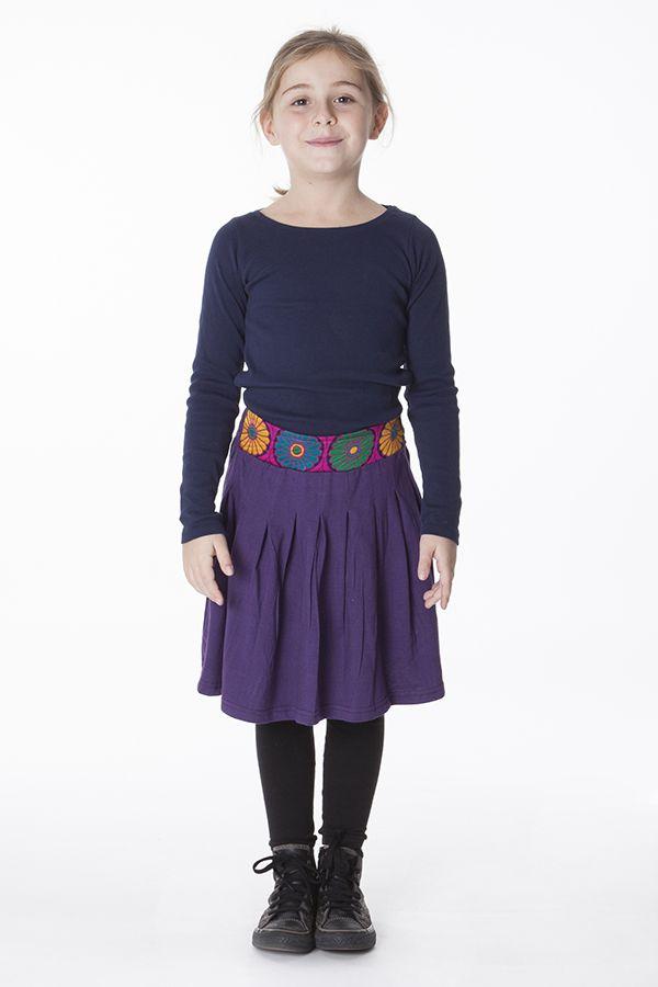 Jupe agréable pour Enfant Ethnique et Colorée Leila Violette 286097