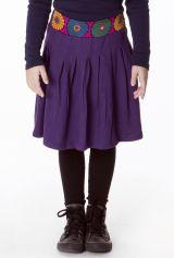 Jupe agréable pour Enfant Ethnique et Colorée Leila Violette 286965