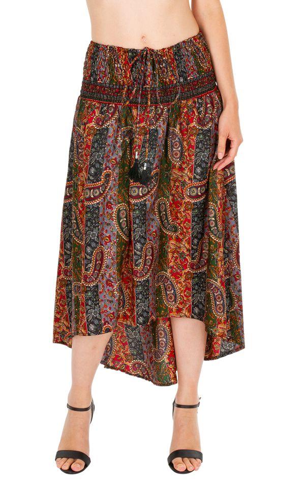 Jupe asymétrique ou Robe agréable et très ethnique Louna 310202