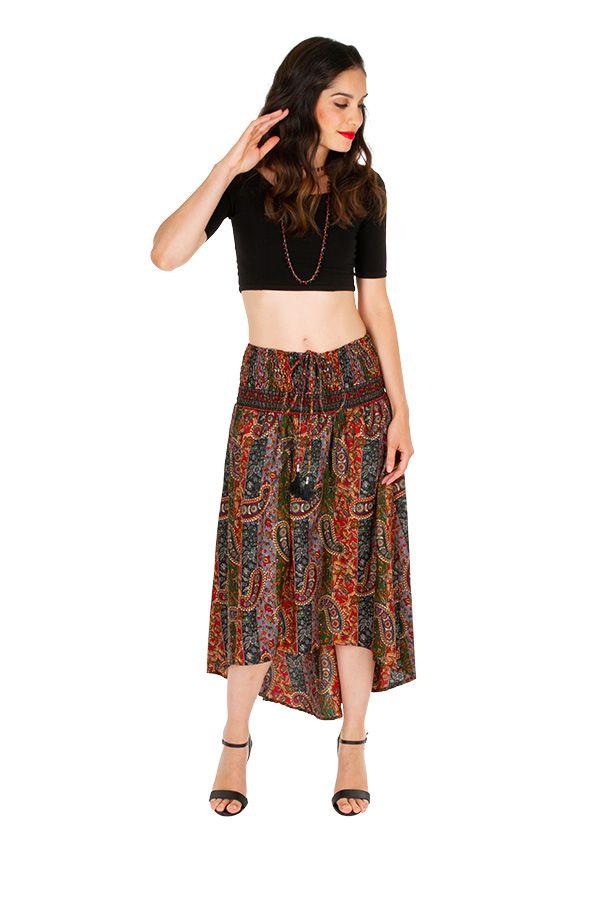 Jupe asymétrique ou Robe agréable et très ethnique Louna 310203