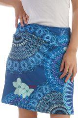 Jupe Bleue en polyester avec imprimés mandalas Poppy 297866
