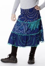 Jupe Colorée mi longue pour Fille avec Imprimée Roseline 286943