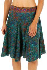 Jupe courte avec un imprimé ethnique et coloré pour femme Lydia