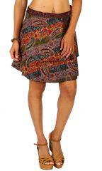 Jupe courte d'été colorée et pas chère multicolore Maya 310074